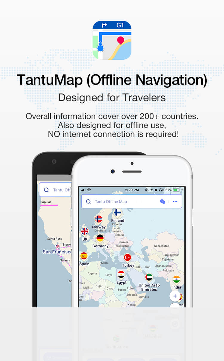 TantuMap (Offline Navigation) - Designed for Travelers - iOS/Android